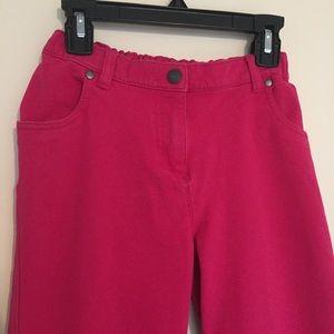 Hanna Andersson pink pants zipper, adjust waist